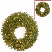 36 Norwood Fir Wreath With 100 Battery Operated Dual Color Led Lights