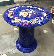 Marble Coffee 30 Table Top With 24and039and039 Stand Inlaid Shells Antique Hallway M029