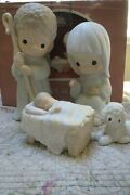 Precious Moments Nativity O Come Let Us Adore Him Extra Large 9 Inch Set Lot