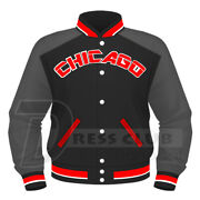 Full Sublimated Varsity Jacket Chicago Baseball Letterman Bomber College Jackets
