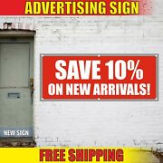 Save 10 Banner Advertising Vinyl Sign Flag Sale Offer Discount Clearance Arrival