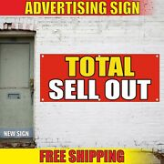 Sell Out Banner Advertising Vinyl Sign Flag Sale Discount Clearance Total Today
