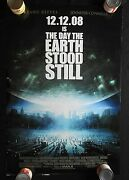 2008 The Day The Earth Stood Still 27 X 41 Movie Poster Keanu Reeves Nice