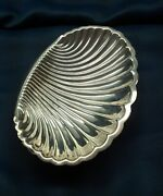 Vintage Plat Mexico S.a. Sterling Shell Footed Candy Nut Trinket Dish 6.5 X 4.5
