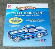 Rare Hot Wheels Kmart Event Mail-in Promo Store Window Display Poster Corvette