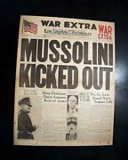 Great Benito Mussolini Ii Duce Ousted Italy World War Ii 1945 Old Wwii Newspaper