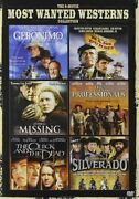 6 Movie Most Wanted Westerns Collection New Dvd Professionals Missing Silverado