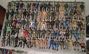 """Mixed Lot Of 270 3.75"""" Plastic Army Military Soldier Articulated Action Figures"""