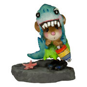 Wee Forest Folk Shark In The Dark, Wff M-622, Halloween Or Beach Mouse
