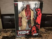Hellboy Rare Mezco 18 Action Figure Signed Ron Perlman Comic Book Closed Mouth