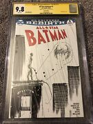 All Star Batman 1 Blank Variant Cgc 9.8 Ss Signed And Sketched By Jock Catwoman