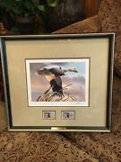 1998 Wisconsin Duck Stamps And Print Snow Goose Les Didier 116/1500 Signed Look