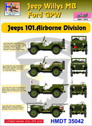 H-model Decals 1/35 Willys Jeep Mb/ford Gpw 101st Airborne Division 35042