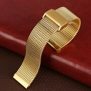 18/20/22mm Milanese Stainless Steel Mesh Wrist Watch Band Watchband Metal Strap