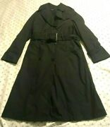 Us Military All Weather Over-coat W/removable Liner Womenand039s 10r 10 R Navy Blue