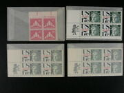 Us Group Of 10 Back Of Book Plate Blks And Zip Blocks Of 4 Stamps Mnh S300