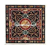 Pietradura Inlay Marble Top Dinner Table Outdoor And Free Elephant Statue Decorate
