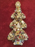 Vintage Style Framed Jewelry Christmas Tree