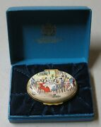Bilston And Battersea Halcyon Days 1980 Oval Enamel Christmas Box Limited Edition