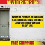 Rv Supplies Banner Advertising Vinyl Sign Flag Shop Park Space Sales Mats Chairs