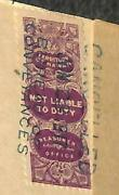 Hawaii D15 Not Liable To Duty Revenue Stamp Lku On Notarized Document 1917