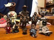 Different Vintage African American Figurines Collectibles Good Conditionandnbsp