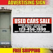 Used Cars Sale Banner Advertising Vinyl Sign Flag Clean Buy Pay Best Price Auto