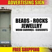Beads Rocks Banner Advertising Vinyl Sign Flag Jewelry Wood Carvings Closeouts