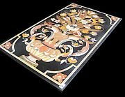 48 X 24 Marble Table Top Inlay Handicraft Work For Home And Garden