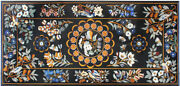 48 X 24 Pietre Dura Marble Inlay Table Top Home Decor