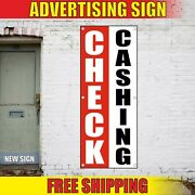 Check Cashing Banner Advertising Vinyl Sign Flag Now Open Service Verify Here 24