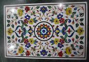 48 X 32 Marble Center Dining Table Top Inlay Pietra Dura Home Decor