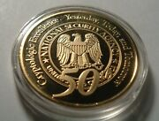 Nsa National Security Agency Cryptology 50th Anniv. Gold Plated Challenge Coin
