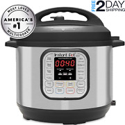 Instant Pot Duo 7-in-1 Electric Pressure Cooker 6 Qt Stainless Steel Speeds Cook