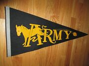 Vintage 60s Army West Point Wool 27 Pennant
