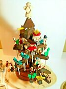 Vintage Wooden Christmas/thanksgiving Tree/ Rustic Tree With Trinkets On Sticks