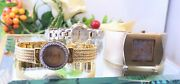 Vintage Lady Watches Lotgeneva,anna Klein With Diamonds,fossil Gold Stainless