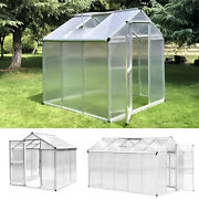 6' L/10' L Portable Outdoor Walk-in Cold Frame Garden Greenhouse Planter