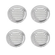 3.9 Inch Stainless Steel Marine Boat Vent Cover Round Panel Plate 4 Packs