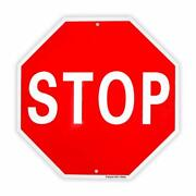 Stop Sign Street Slow Warning Reflective Signs 12x 12 40 Mil Rust Free