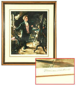 Norman Rockwell American, 1894-1978 Top Hat And Tails Signed Artist's Proof