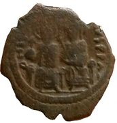Justin Ii And Sophia 565-578 Ad Large M Rare Constantinople Mint.