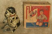 1940and039s Marx Flipo The Jumping Dog Tin Wind-up In Original Box