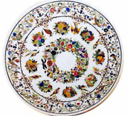 48 Marble Center/ Dining Table Top Floral Inlay Handcrafted Art Home Decorative