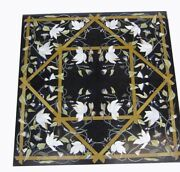 42 Marble Coffee / Center Table Top Home Decor Inlay Pietra Dura Marquetry Work