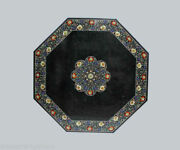 42 Green Marble Patio / Center Coffee Table Top Pietra Dura Inlaid Art Work