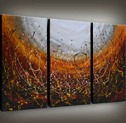 Abstract Wall Art Framed Contemporary Oversized Abstract Painting Canvas Art