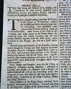 Best King James Ii Of England And Queen Mary Coronation 1685 London Uk Newspaper
