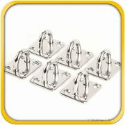 6 Stainless Steel 316 6mm Square Eye Plates 1/4 Marine Ss Pad Boat Rigging New