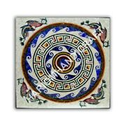 36 Marble White Counter Table Top Unique Marquetry Inlay Home Decorative E1045a